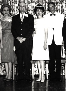 My wedding to Paul (June 8, 1964).  R to L: Mother, Daddy, Me, Paul.